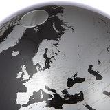 Atmosphere Anglo zwart wereldbol_