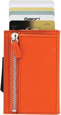 Ögon Cascade Zipper Orange creditcardhouder