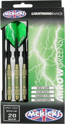 McKicks Brass Arrow Greens dartpijlen