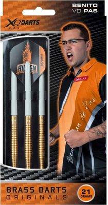XQ-Max Benito van de Pas brass steeltip dartpijlen