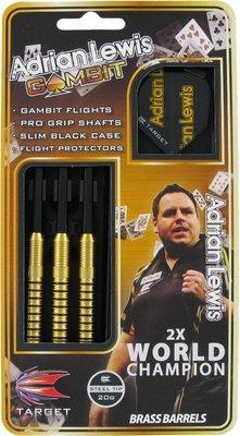 Target Adrian Lewis Gambit steeltip dartpijlen