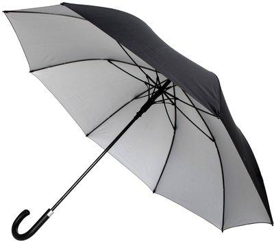 Falcone Automatic luxe windproof golfparaplu zwart met zilvergrijs