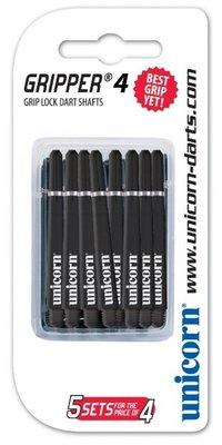 Unicorn Gripper 4 Short Nylon Ring shafts zwart - 5 pack