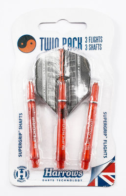 Harrows Twin Pack Supergrip Orange