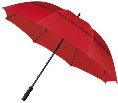 Falcone windproof eco golfparaplu rood