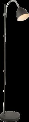 Globo Archibald anthracite vloerlamp 156 cm