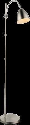 Globo Archibald mat silver vloerlamp 156 cm