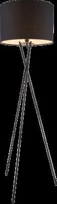 Globo Gustav black vloerlamp 160 cm