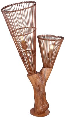 Globo Wood vloerlamp 110 cm