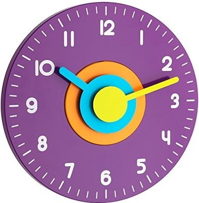 TFA Polo purple 23 cm klok