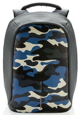 XD Design Bobby Compact Print anti-diefstal rugzak camouflage blauw