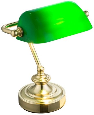 Globo Antique brass light green tafellamp