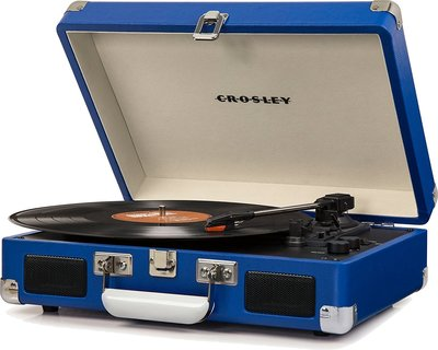Crosley Cruiser Deluxe blauw platenspeler