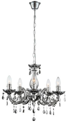 Globo Cuimbra chrome five chandeliers kroonluchter