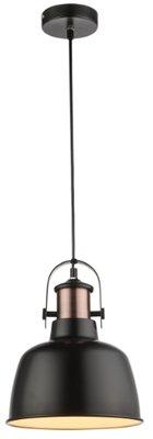 Globo Clarkson black copper medium hanglamp