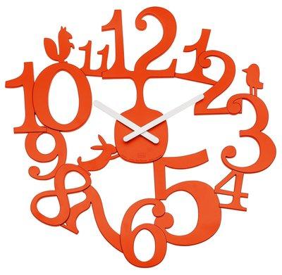 Koziol PI:P orange 45 cm klok