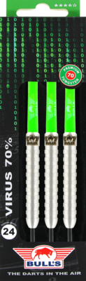 Bull's Tungsten Virus 70% steeltip dartpijlen