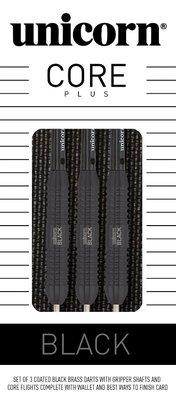Unicorn Core Plus Black steeltip dartpijlen