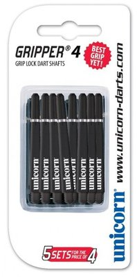 Unicorn Gripper 4 Medium Nylon Ring shafts zwart - 5 pack