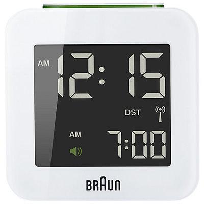 Braun BNC008 wit 6 cm radiogestuurde wekker