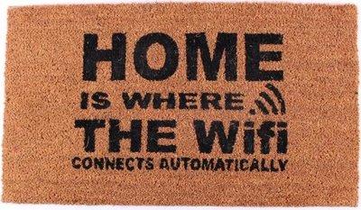 Felpudo Wifi kokosmat met print