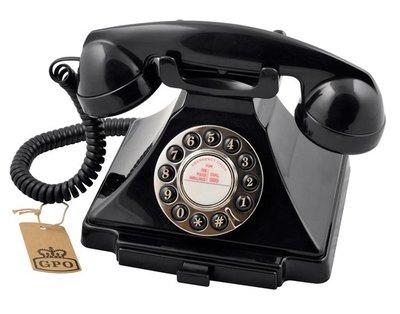 GPO 1929S Carrington zwart klassieke telefoon