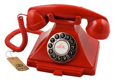GPO 1929S Carrington rood klassieke telefoon