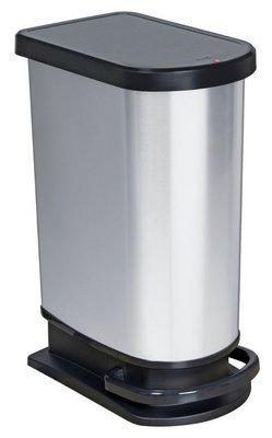 Rotho Paso zilver pedaalemmer 50 liter