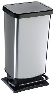 Rotho Paso zilver pedaalemmer 40 liter