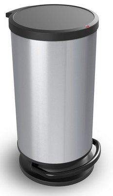Rotho Paso zilver pedaalemmer 30 liter