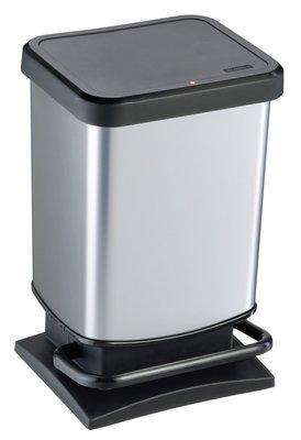 Rotho Paso zilver pedaalemmer 20 liter