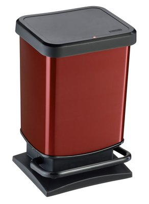 Rotho Paso rood pedaalemmer 20 liter