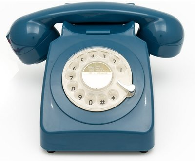 GPO 746 Rotary azure klassieke telefoon