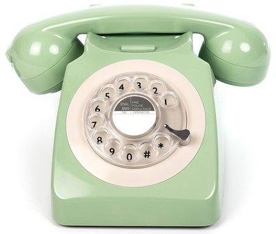 GPO 746 Rotary groen klassieke telefoon