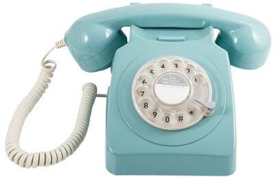 GPO 746 Rotary blauw klassieke telefoon