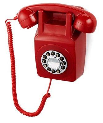 GPO 746 Wall rood klassieke wandtelefoon