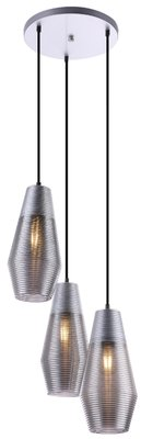 Globo Wayne silver three lamp holders hanglamp