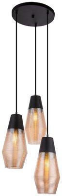 Globo Wayne amber three lamp holders hanglamp