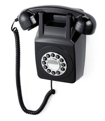 GPO 746 Wall zwart klassieke wandtelefoon