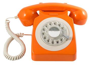 GPO 746 Rotary oranje klassieke telefoon