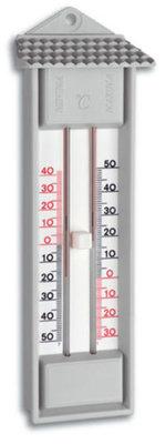 TFA Maxima Minima Grey analoge thermometer