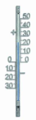 TFA Metal Silver analoge thermometer