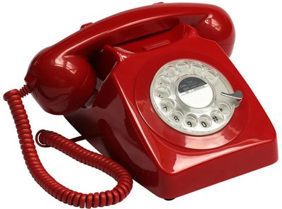 GPO 746 Rotary rood klassieke telefoon