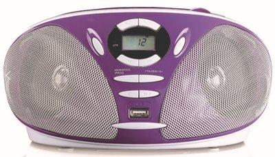 Lenco SCD-300 paars draagbare radio