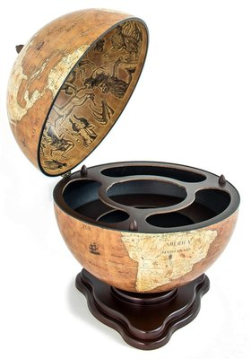 Universal Galileo Rust Desk barglobe