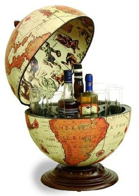 Classica Nettuno Safari Desk barglobe