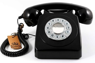 GPO 746 Push zwart klassieke telefoon