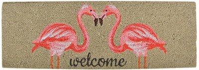 Esschert Design Flamingo kokosmat met print
