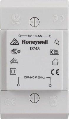Honeywell D753 deurbeltransformator 8V 1A - opbouw