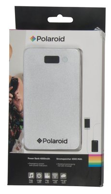 Polaroid 4000 mAh powerbank zilver